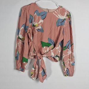 NWT Capulet Anais faux wrap magnolia blouse